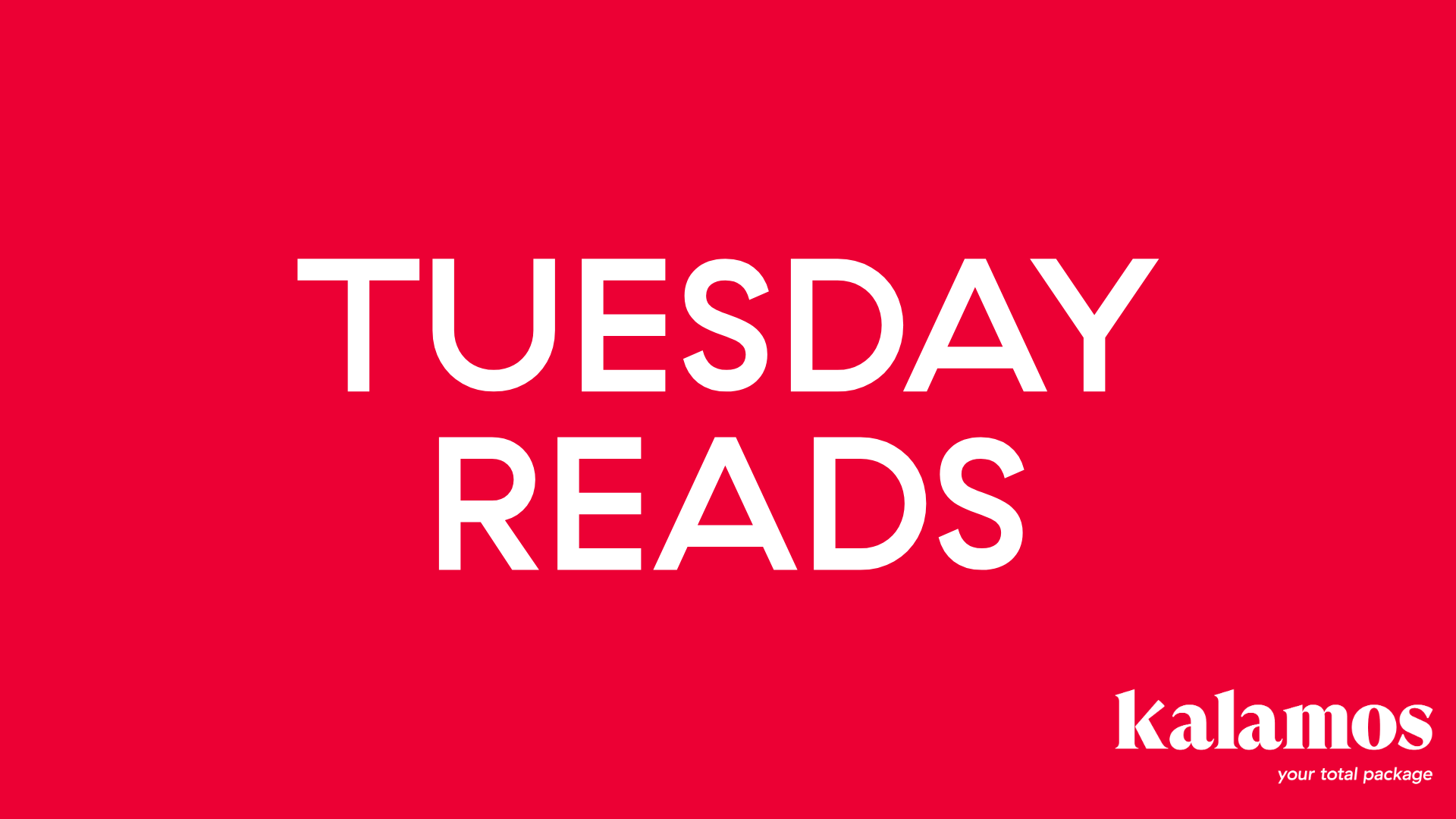 Tuesday Reads 11/5