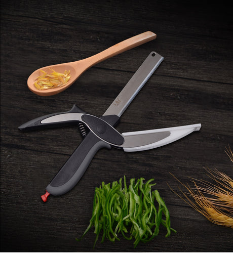 Stainless Steel 2-in-1 Cutting Board Scissors
