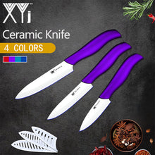 Load image into Gallery viewer, 3-Piece Ceramic Kitchen Knife Set