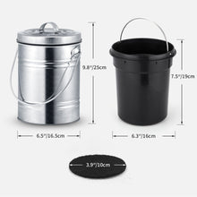 Load image into Gallery viewer, 3L Kitchen Compost Bin