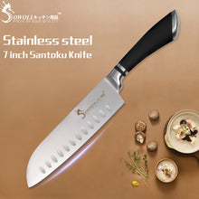 Load image into Gallery viewer, Sowoll Stainless Steel Santoku Knife