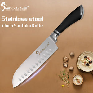 Sowoll Stainless Steel Santoku Knife