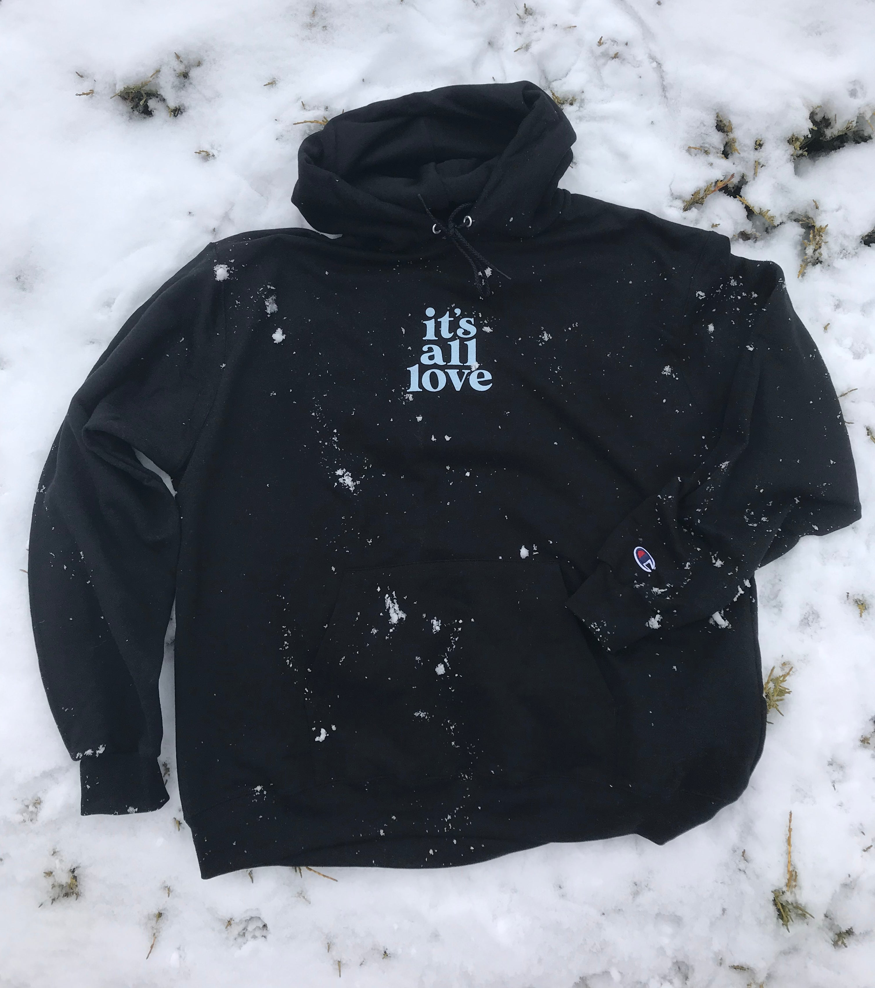'It's All Love' Black Champion Hoodie
