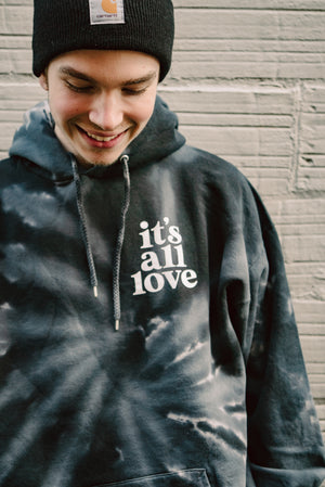 its all love TIE DYE Hoodie
