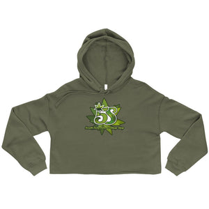 South Side Smoke Shop - Logo - Womens Crop Top Hoodie