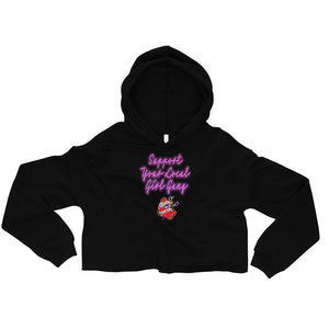 Twisted Scissors - Support Your Local Girl Gang - Crop Hoodie