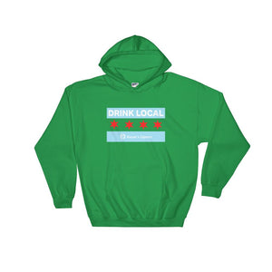 Rayan's Liquors - Drink Local Chicago Flag - Hooded Sweatshirt