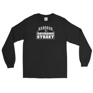 115 Bourbon Street - Black Sign - Long Sleeve T-Shirt