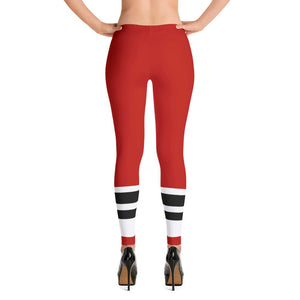 115 Bourbon Street - Red Stripe - Leggings