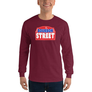 Bourbon Street Staff - Red Sign - Long Sleeve T-Shirt