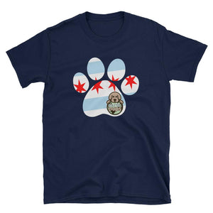 Earth Pups - Chicago Paw Print - Short-Sleeve Unisex T-Shirt