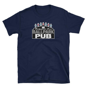 Ballpark Pub - Black Sign - Bridgeport - Short-Sleeve Unisex T-Shirt