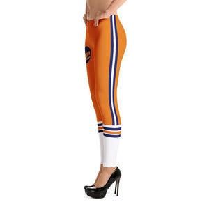 115 Bourbon Street - Orange Stripe - Leggings