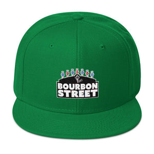 115 Bourbon Street - Black Sign - Snapback Hat