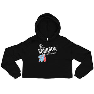 Bourbon Street Staff - Feathers - Womens Crop Top Hoodie