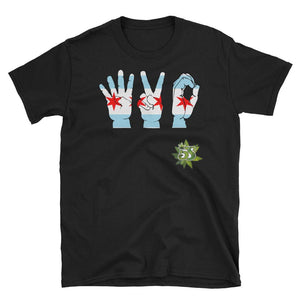 South Side Smoke Shop - 420 Chicago Hands - Short-Sleeve Unisex T-Shirt