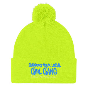 c3a2c23a9 Twisted Scissors Staff - Support Your Local Girl Gang - Pom Pom Knit Cap