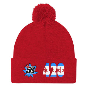 South Side Smoke Shop 5S - 420 - Pom Pom Knit Cap