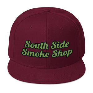 South Side Smoke Shop - Green Script - Snapback Hat
