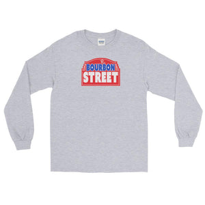 115 Bourbon Street - Red Sign - Long Sleeve T-Shirt