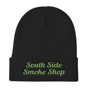 South Side Smoke Shop - Green Knit Beanie
