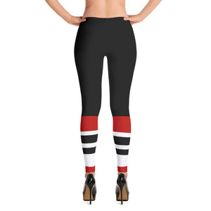 115 Bourbon Street - Black Stripe Leggings