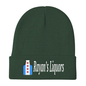 Rayan's Liquors - Chicago Flag Beer Bottle - Knit Beanie