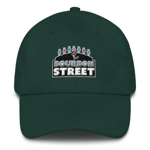 115 Bourbon Street - Black Sign - Dad hat