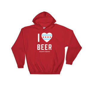 Rayan's Liquors - I Heart Beer - Hooded Sweatshirt