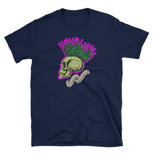 Twisted Scissors - Mohawk Skull - Short-Sleeve Unisex T-Shirt