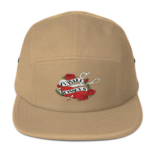 Twisted Scissors - Logo - Embroidered Five Panel Cap