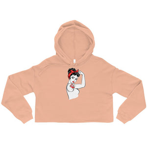 Twisted Scissors - Girl Power - Crop Hoodie