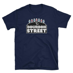 Bourbon Street- Black Sign - Short-Sleeve Unisex T-Shirt