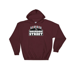 115 Bourbon Street - Black Sign - Hooded Sweatshirt