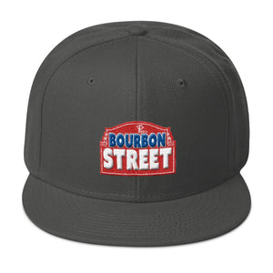 115 Bourbon Street - Red Sign - Snapback Hat