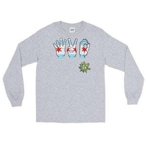 South Side Smoke Shop - 420 Chicago Hands - Long Sleeve T-Shirt