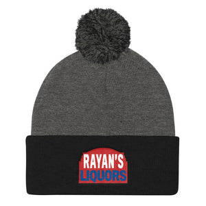 Rayan's Liquors - Red Sign - Pom Pom Knit Cap