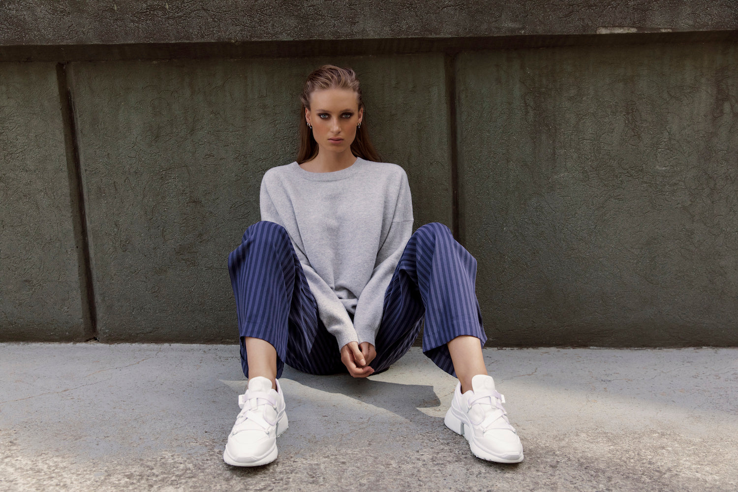 Australian luxury brand St Cloud Label makes high quality, premium knitwear at an affordable price, such as this madera felted wool crew neck, available in jade, pinot and grey