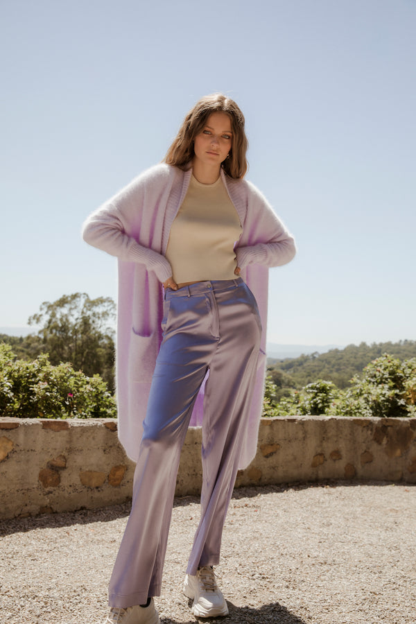 ** PRE-ORDER ** Silk Lounge Pant - Dusty Lilac