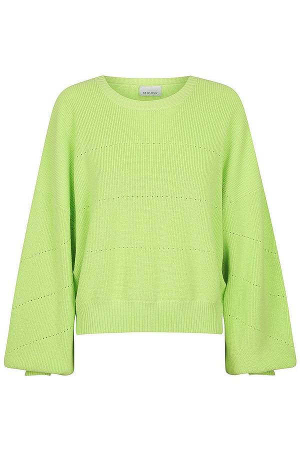 Cotton Pointelle Crew - Lime