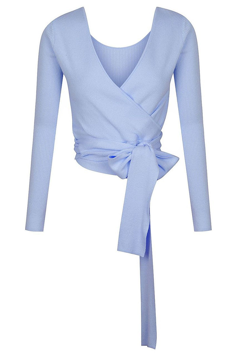 Reversible V Neck Ballet Wrap - Blueberry