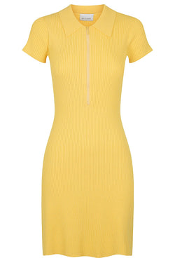 Zip Polo Dress - Marigold