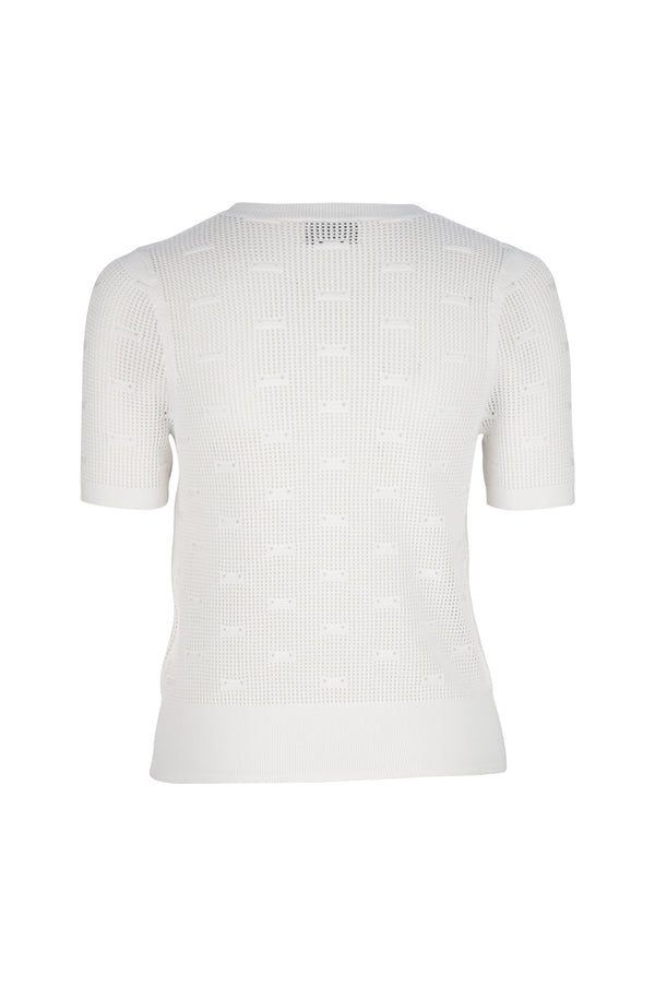 Elba Stitch Detail Knit Tee - Ivory by  St Cloud Label