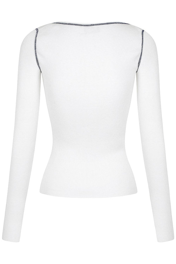 Henley Knit - White