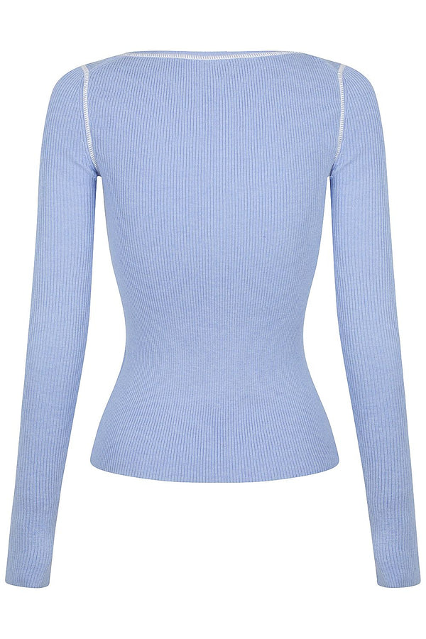 Henley Knit - Blueberry