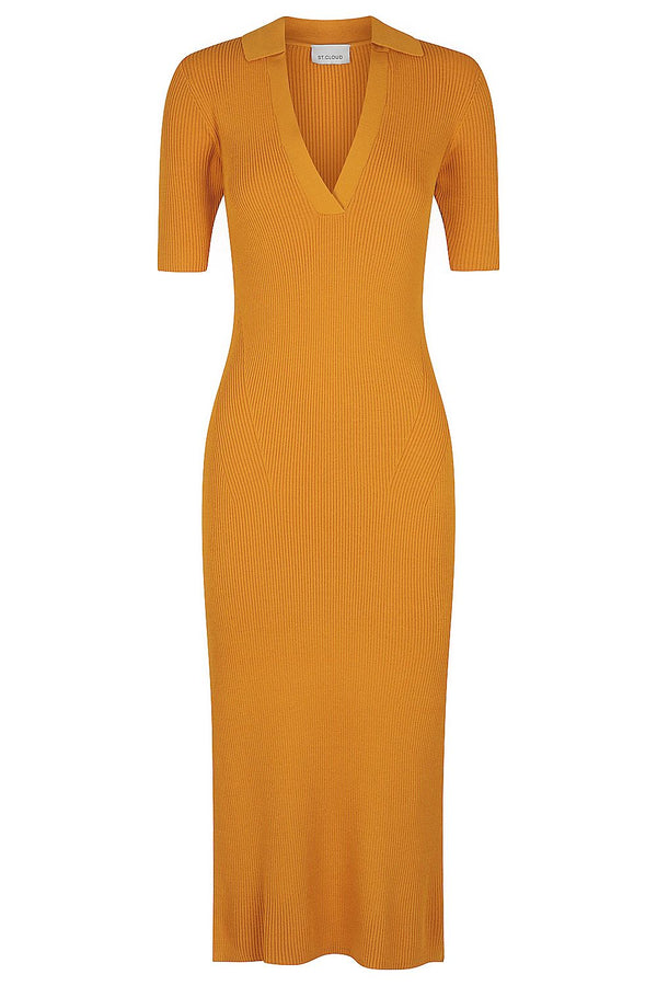 Midi Polo Dress - Tobacco