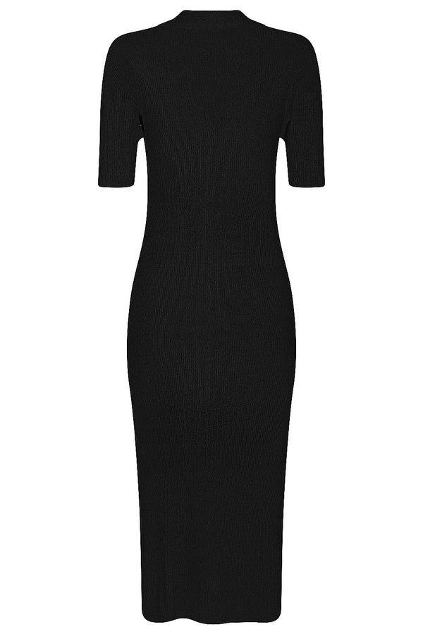 Midi Polo Dress - Black