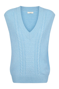 Cable Vest - Scandi Blue