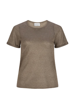 Lurex Knit Tee - Bronze by  St Cloud Label