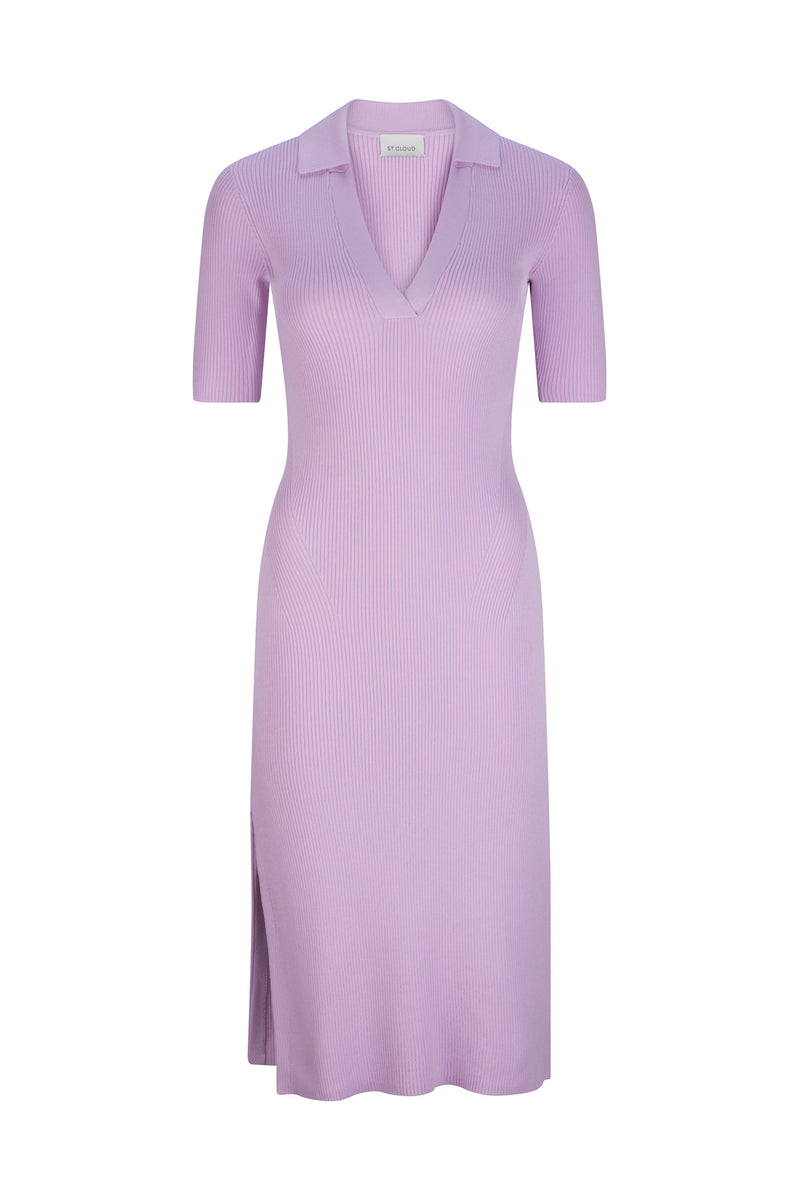Mallorca Midi Polo Dress - Lilac by  St Cloud Label